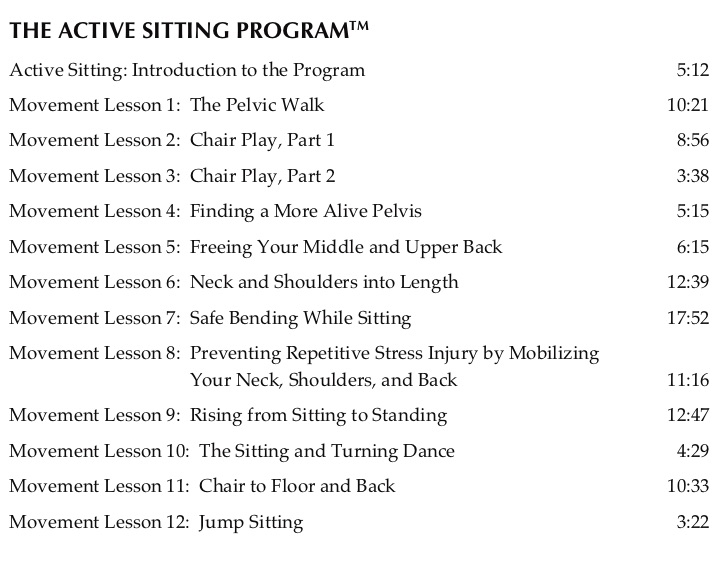 Active Sitting TOC