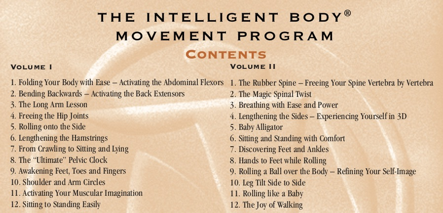 Intelligent Body Movement Lessons TOC
